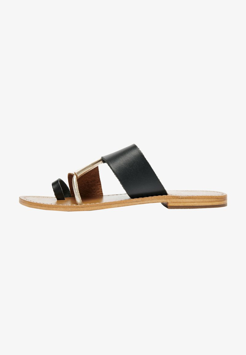 White Sun - COLIN  - T-bar sandals - black