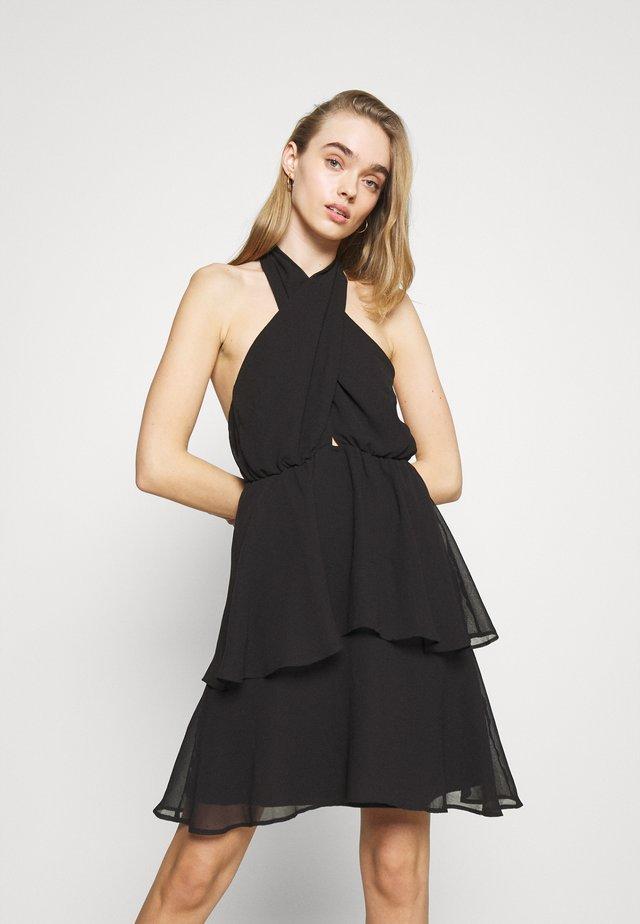 EXCLUSIVE MALVA HALTERNECK DRESS - Vestito elegante - black