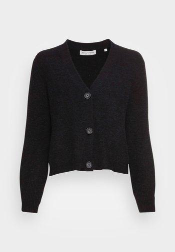 CARDIGAN LONGSLEEVE V-NECK BUTTON CLOSURE HALF-CARDIGAN STIT - Cardigan - black