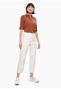 s.Oliver - Straight leg jeans - beige - 1