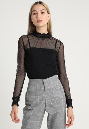 LADIES DOUBLE LAYER - Long sleeved top - black