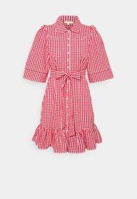 byTiMo - CHECKS KITCHEN DRESS - Shirt dress - red - 5