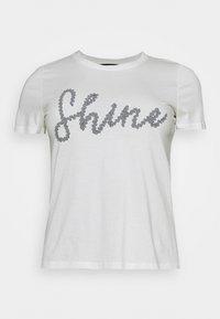 VMALANAFRANCIS BOX - Print T-shirt - snow white/shine