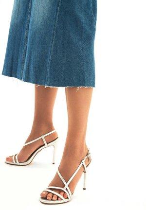 LAZURITE - Sandály na vysokém podpatku - silver
