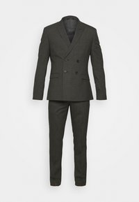 RECYCLED CHECK DOUBLE BREASTED SUIT - Kostuum - anthracite