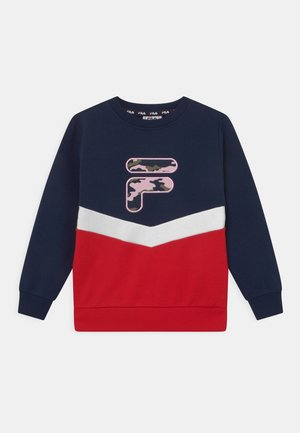 QUIN CREW NECK - Sweater - black iris/true red/bright white