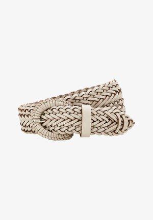 BRAIDED - Braided belt - light beige