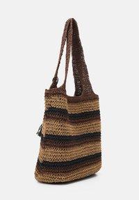Seafolly - CARRIED AWAY STRIPE BEACH BAG - Accessoire de plage - bronze - 1