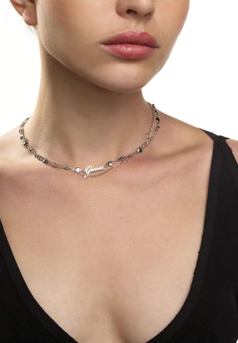 Guess - SHINE ON ME MULTI-HERZEN - Necklace - silver-coloured