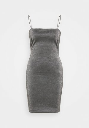 BENG 90S SQUARE NECK - Shift dress - black