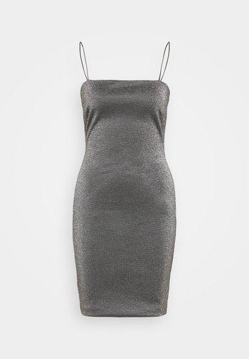 BENG 90S SQUARE NECK - Shift dress - black