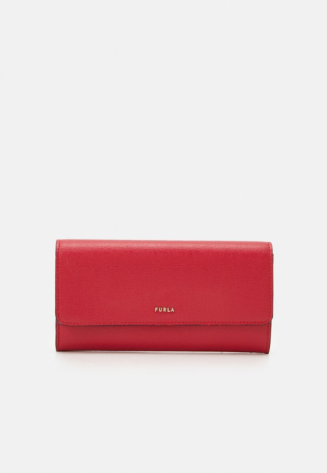BABYLON CONTINENTAL WALLET SLIM - Monedero - ruby
