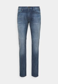 Emporio Armani - POCKETS PANT - Straight leg jeans - blue denim - 0