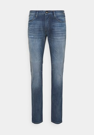 POCKETS PANT - Džíny Straight Fit - blue denim