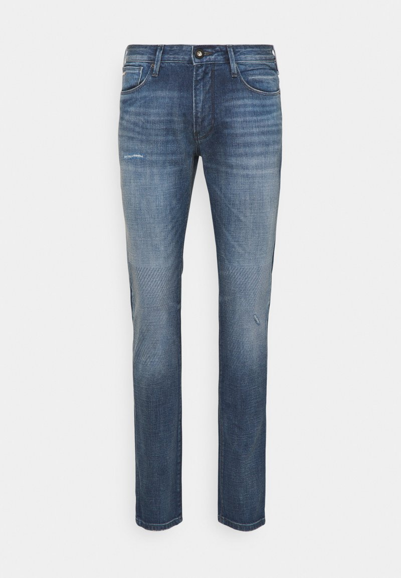 Emporio Armani - POCKETS PANT - Straight leg jeans - blue denim