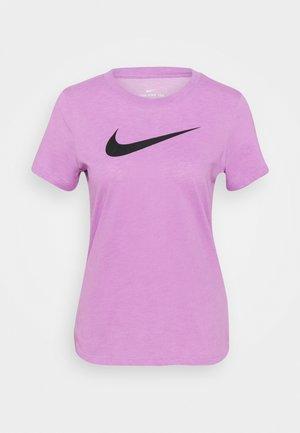 TEE CREW - T-shirts med print - violet shock/pink foam/black
