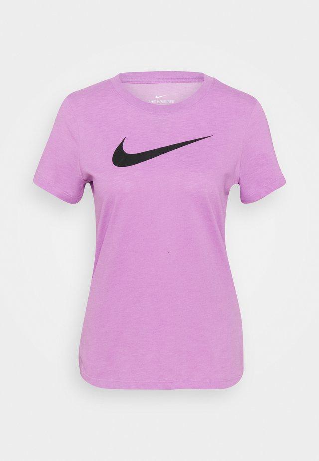 TEE CREW - T-shirt print - violet shock/pink foam/black