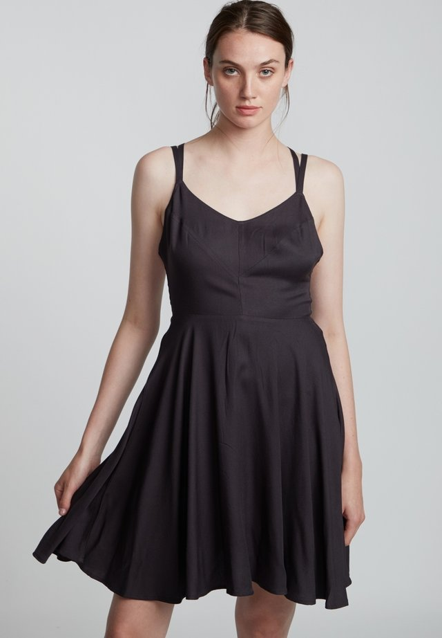 HEART TWILL - Cocktail dress / Party dress - off black