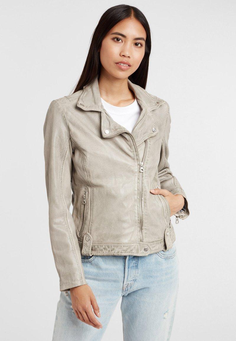 Gipsy - Leather jacket - grau grey