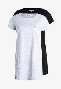 Zalando Essentials - 2 PACK - Nightie - black/light grey - 6