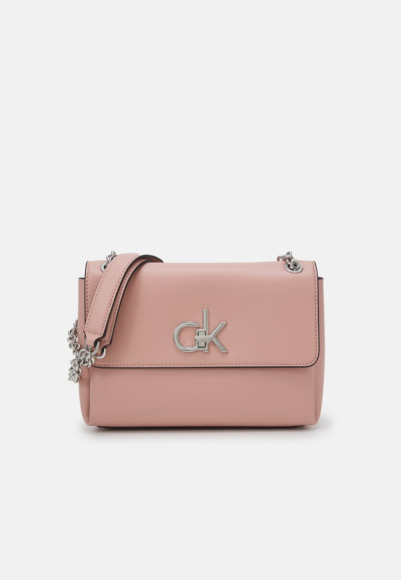 Calvin Klein - RELOCK FLAP XBODY - Handbag - blush