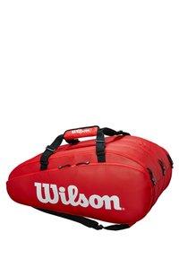 Wilson - TOUR 3 - Racket bag - red - 1