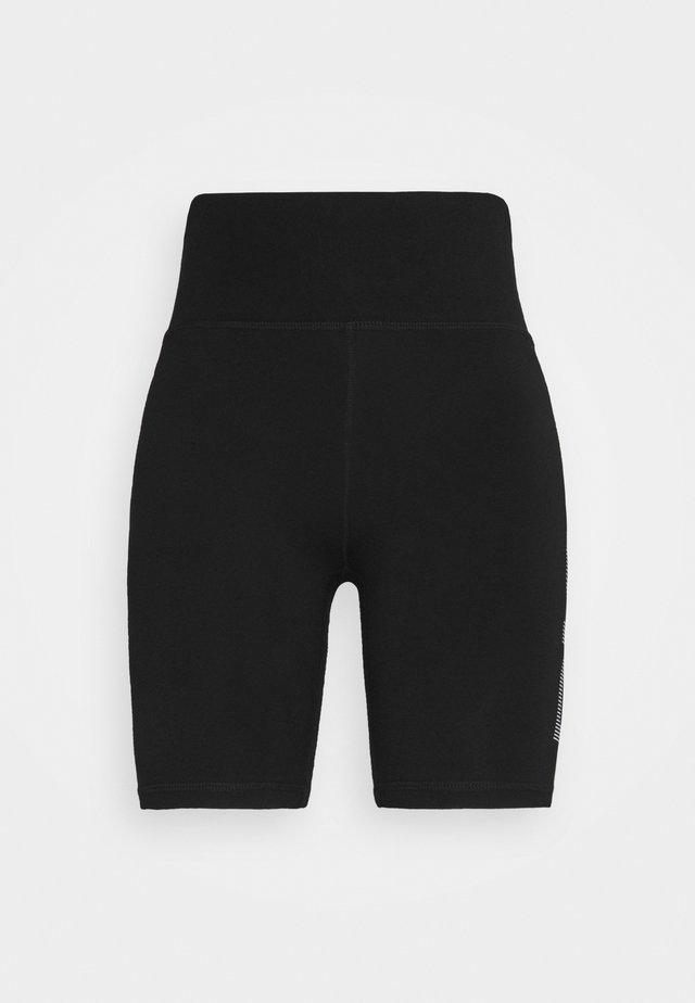 STRIPE LOGO BIKE - Collants - black