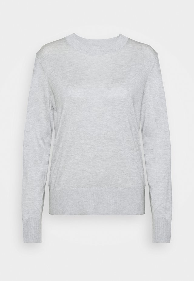 EASY CREW SOLIDS - Strikkegenser - light heather grey
