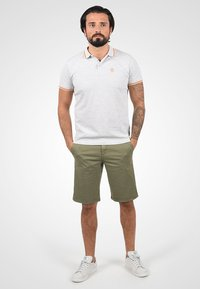 Solid - RON - Denim shorts - dusty olive - 1