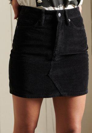 Mini skirt - washed black
