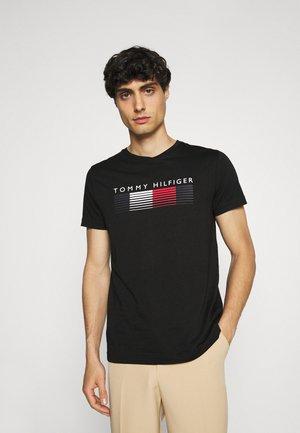 FADE GRAPHIC CORP TEE - Print T-shirt - black