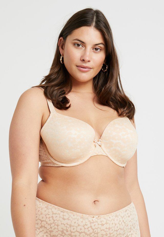 PLUS BRA - Beugel BH - toasted almond