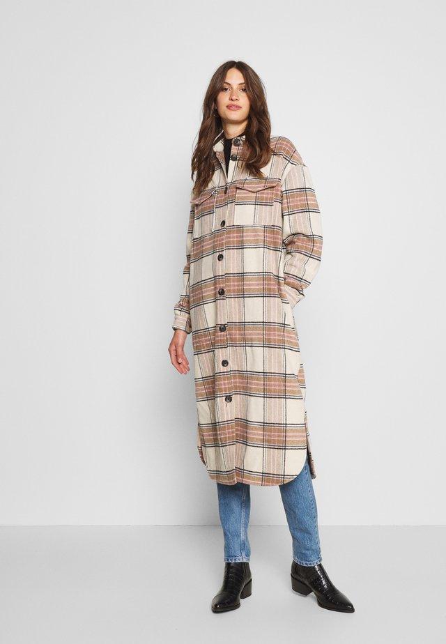 ONLLOLLY LONG CHECK COAT  - Zimní kabát - multi coloured