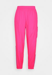 PANT  - Tracksuit bottoms - hyper pink/white