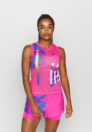 SLAM TANK  - Sports shirt - pink foil/hot lime/white/sapphire