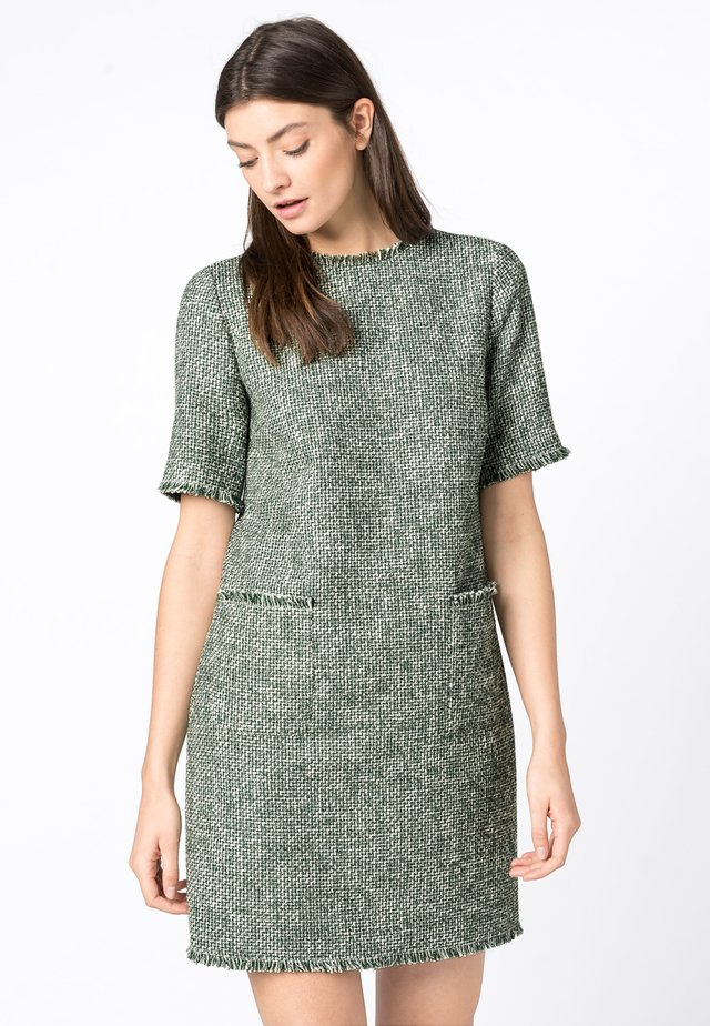 MIT LUREX - Jumper dress - dark green