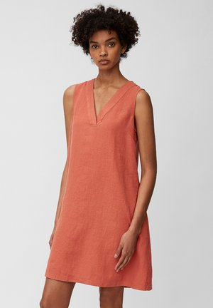 DRESS - Day dress - burnt orange