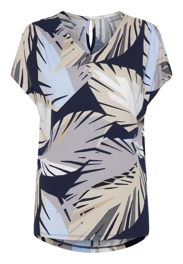 FRJEAFRICA  - T-shirt imprimé - navy blazer mix