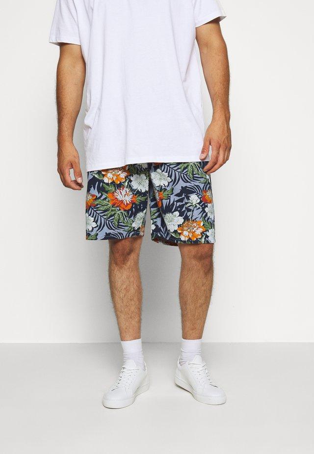 FLORAL CHAMBRAY  - Shorts - blau