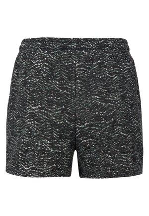 Swimming shorts - black aop w/ green