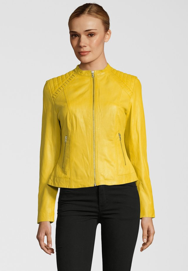 SHARMA - Leather jacket - yellow