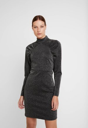 UNA DRESS - Shift dress - black