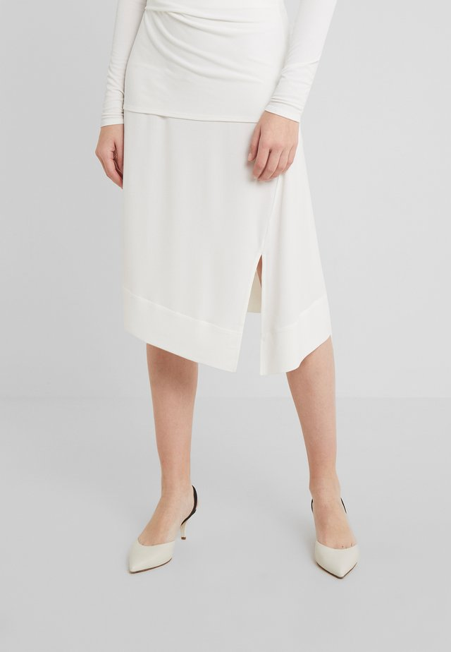 COAXANA - A-line skirt - soft white