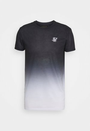 FADE TEE - T-shirt med print - black/white