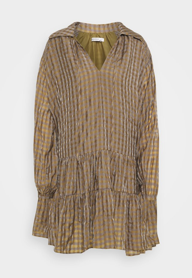 LADIES DRESS GINGHAM - Hverdagskjoler - olive metallic