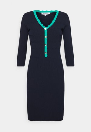 Jumper dress - marine/menthe
