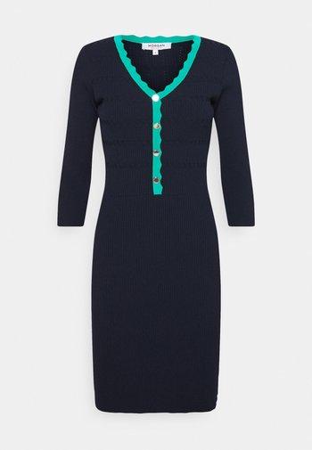Jumper dress - marine/menthe