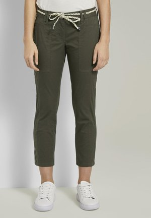 Trousers - woodland green