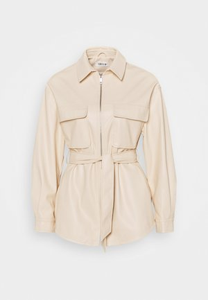 KENDALL - Faux leather jacket - beige