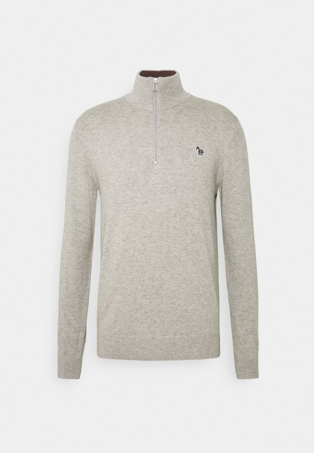 MENS ZIP NECK ZEBRA - Jumper - grey